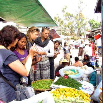 Inkopen op de markt