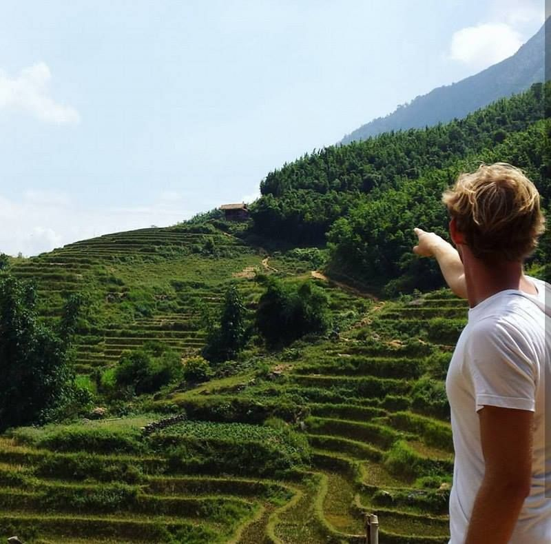 Rustgevende rijstvelden in Sapa
