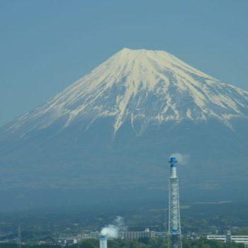 Mount Fuiji vanuit de trein