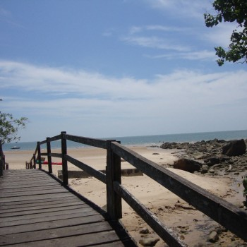 het strand bij Damai