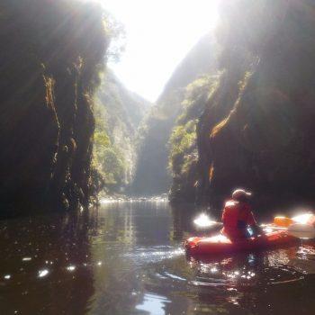 Tijdens de kano tocht