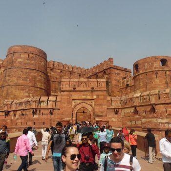 het Agra fort (of rode fort)
