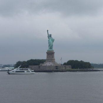 Uitzicht vanuit de Staten Island Ferry