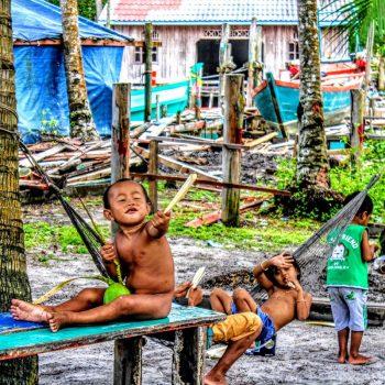 Vissersdorpje op Koh Rong