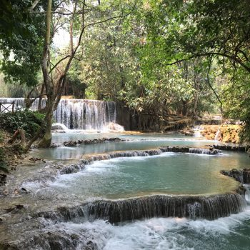 Kuang Si watervallen nabij Luang Prabang