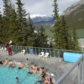 Banff Upper Hot Springs pool temp 40 graden