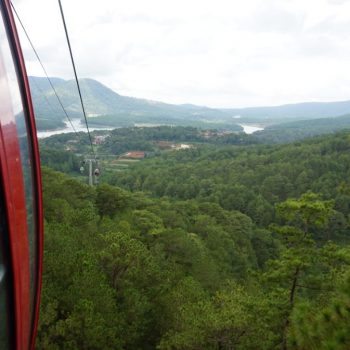 Uitzicht vanaf de cable cart