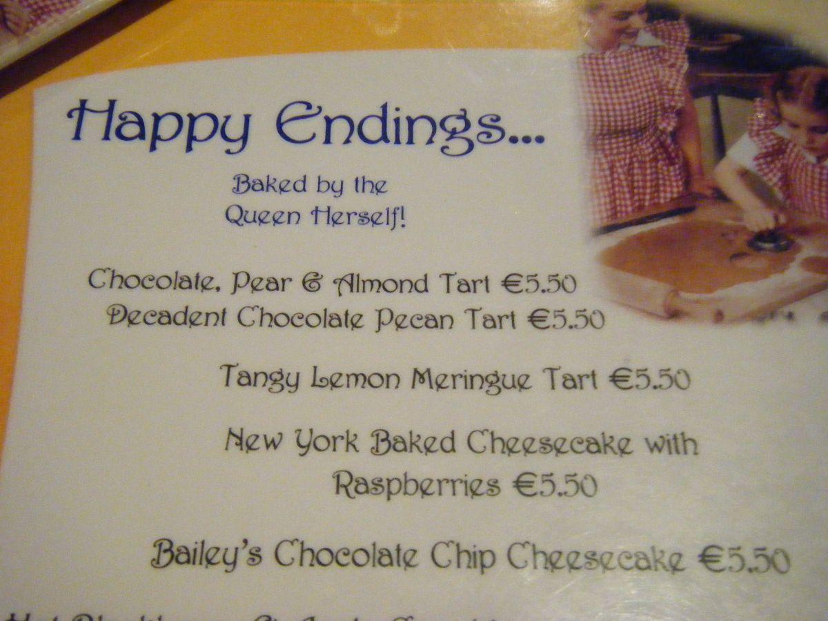 Happy Endings, en lekker.  Bij Queen of tarts in Dublin.