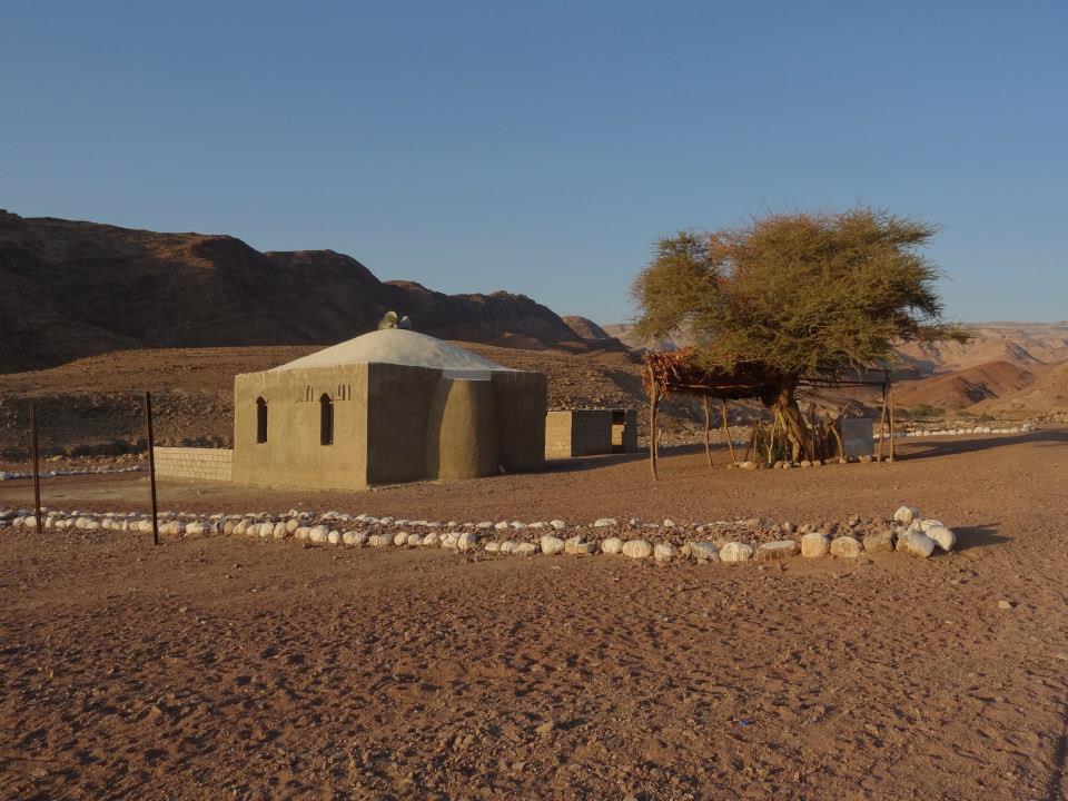 Moskee in dorpje in Dana Nature Reserve