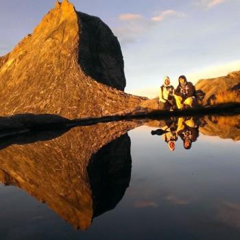 Bovenop de Mount Kinabalu