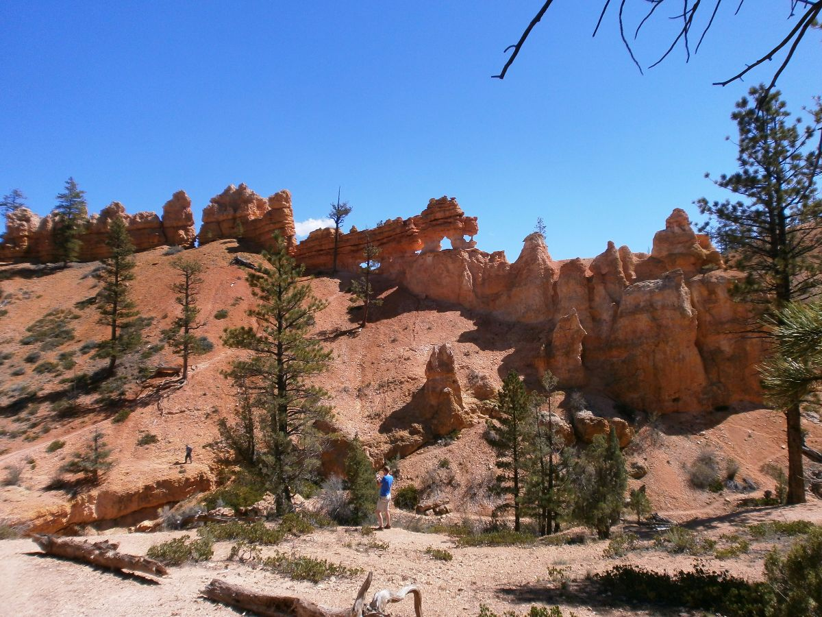 Mossy cave trail, net buiten het park