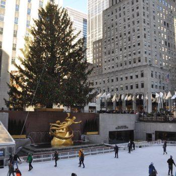 En natuurlijk de kerstboom op Rockefeller center