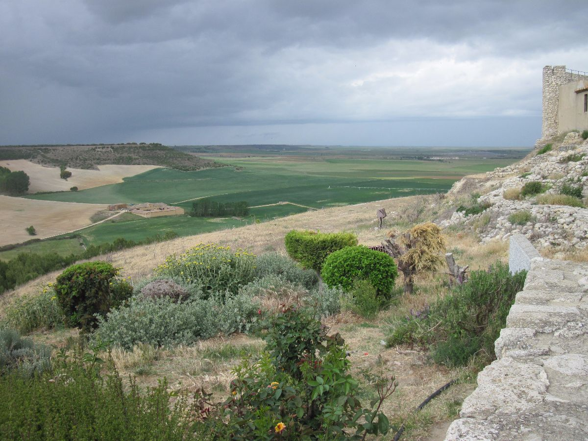 Typisch Castiliaans landschap, bij Urueña (Valladolid)