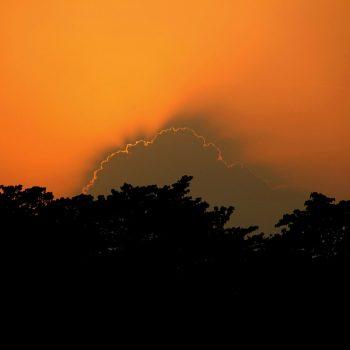 Zonsondergang Chitwan National Park