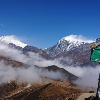 Uitzicht vanaf Dzongri top op Khangchendzonga