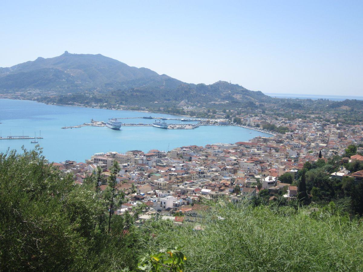 Uitzicht Zakynthos stad