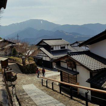 Uitzicht vanuit Tsumago