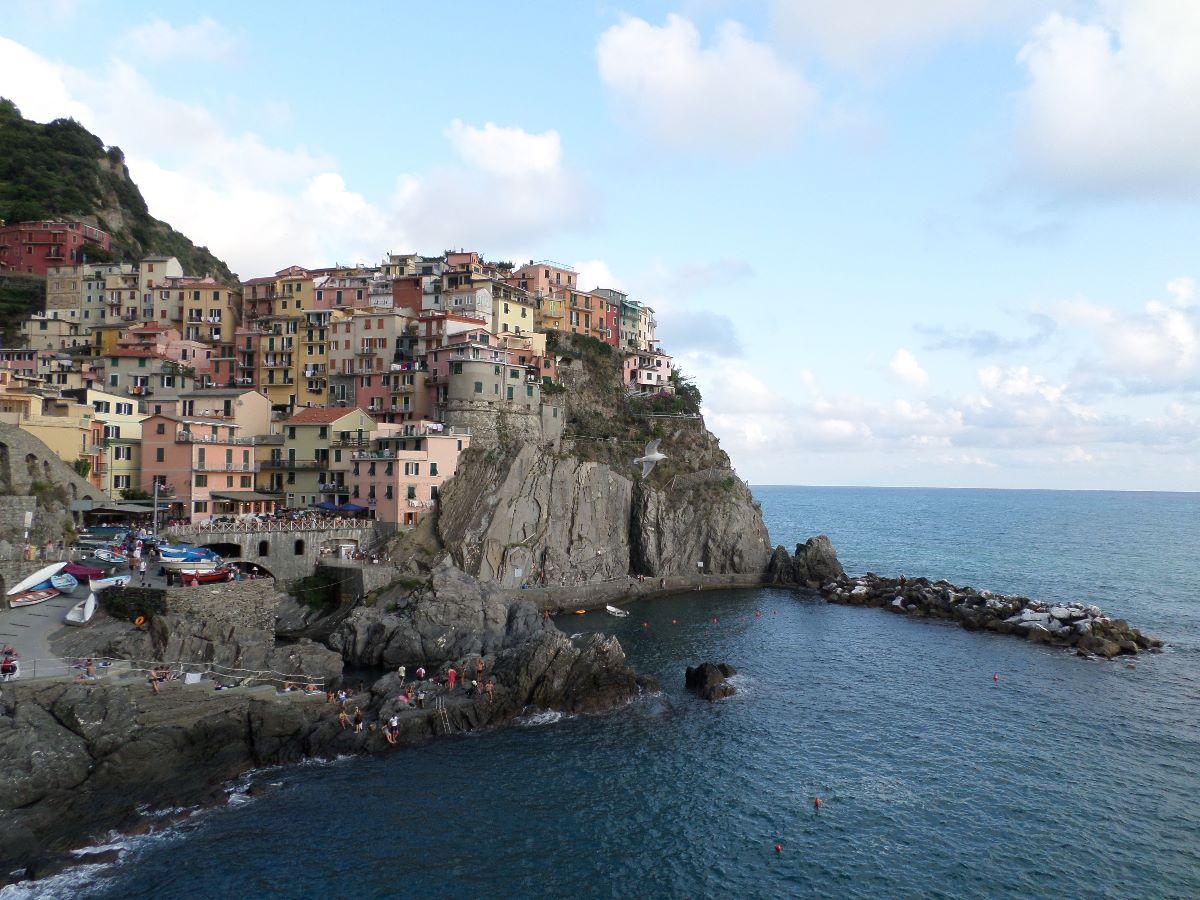 Uitzicht op een van de dorpjes van Cinque Terre