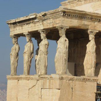 Erechtheion op de Akropolis heuvel