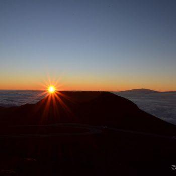 Zonsopkomst op Haleakala Crater