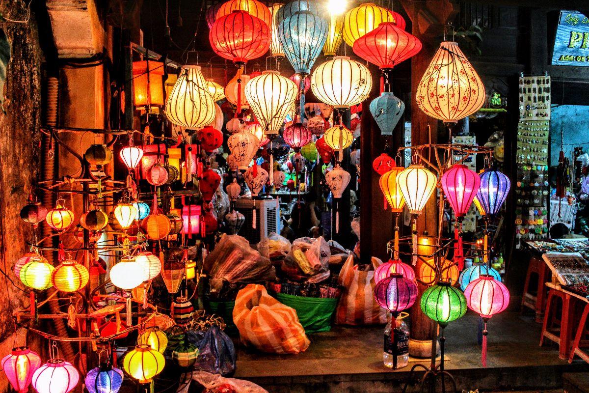 Kleurrijke lampionnetjes