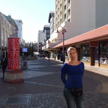 Windhoek centrum, beetje troosteloos.