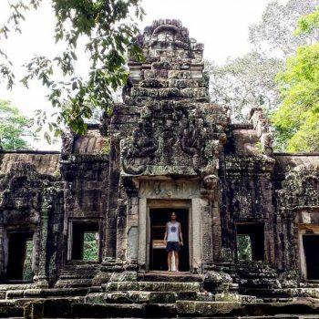 Eén van de vele prachtige tempels in Angkor