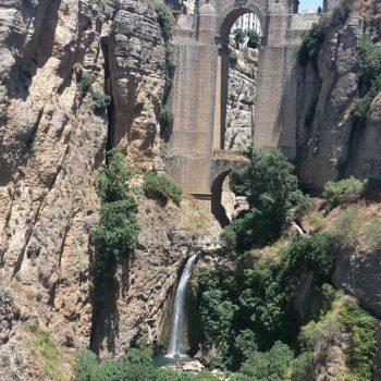 De bekende brug in Ronda
