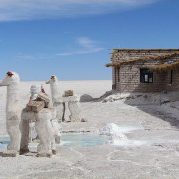 Zouthotel op de Salar de Uyuni