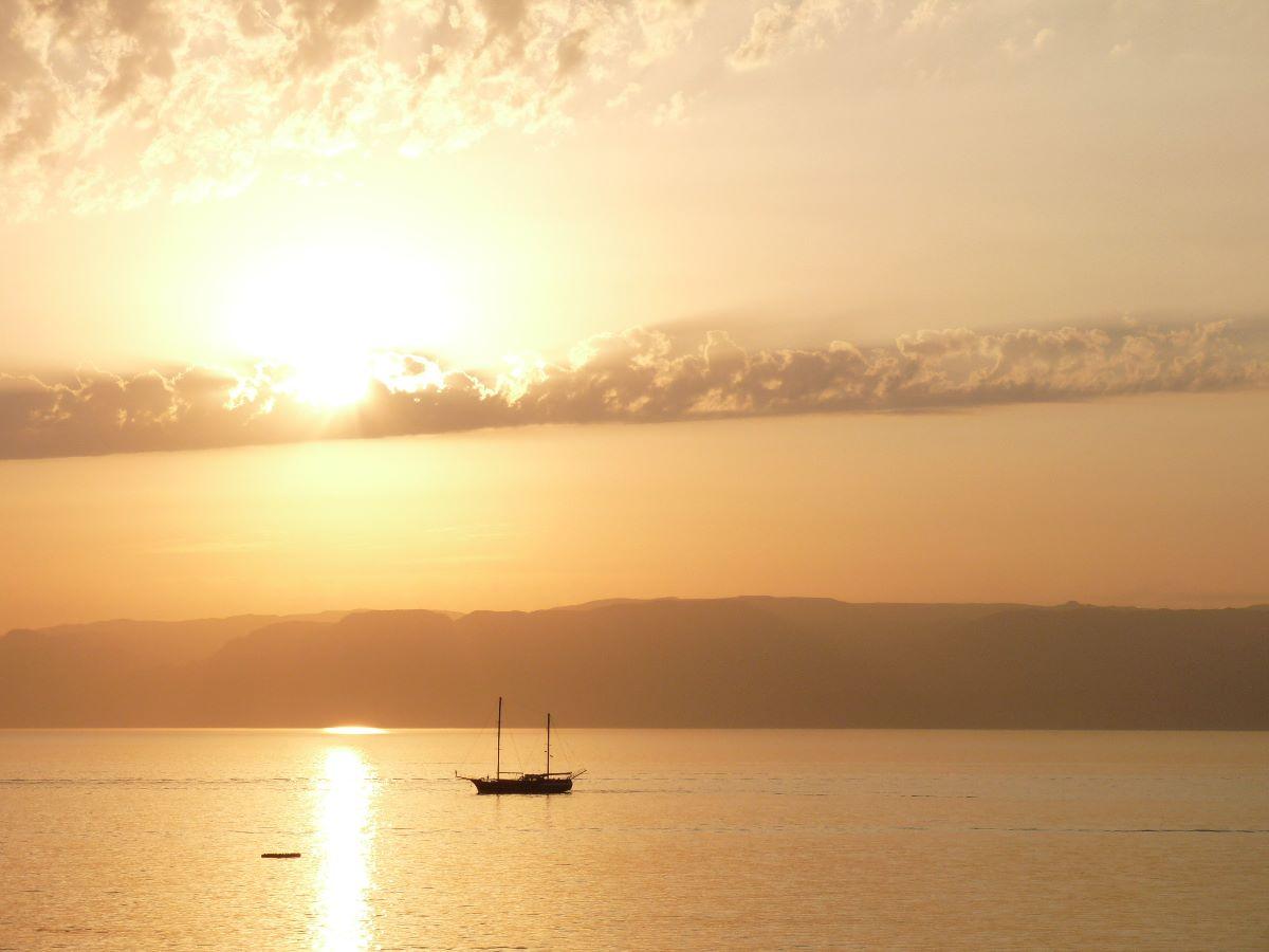 Zonsondergang  Aqaba - Rode Zee