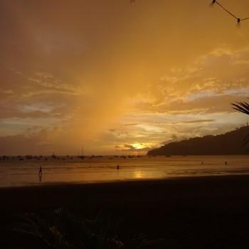 Prachtige zonsondergangen. Deze was in San Juan del Sur.