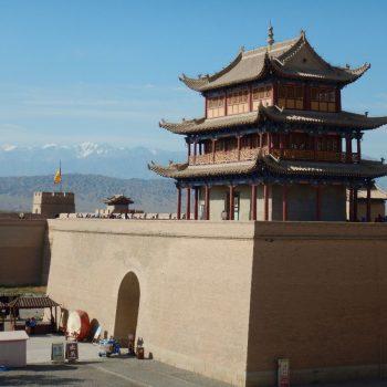Jiayuguan Fort, het westelijke beginpunt van de Chinese Muur