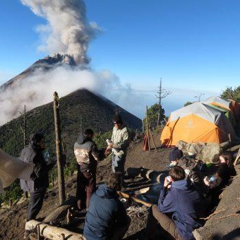 basecamp op de Acatenango