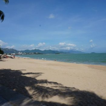 Aan het strand in nha Trang
