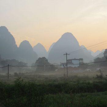 Zonsopgang bij Yangshuo