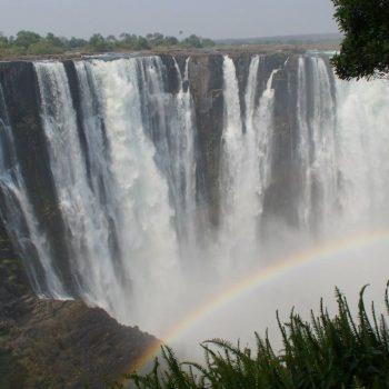 Regenboog bij Victoria Falls