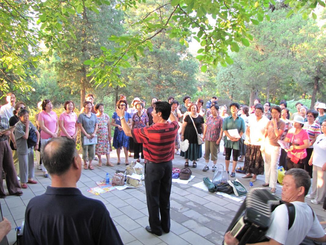het leven zoals het is: het park (Peking)