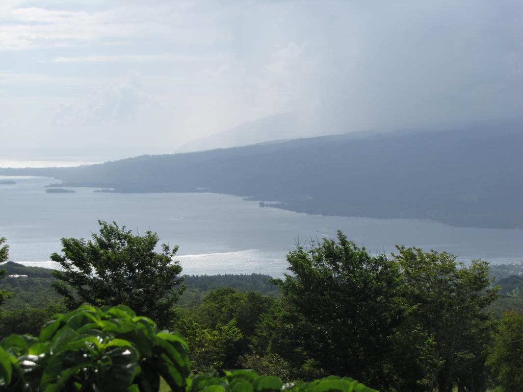 uitzicht vanop Tahiti