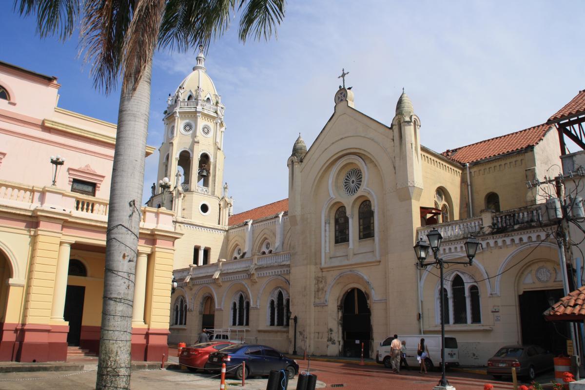 De oude wijk in Panama-Stad