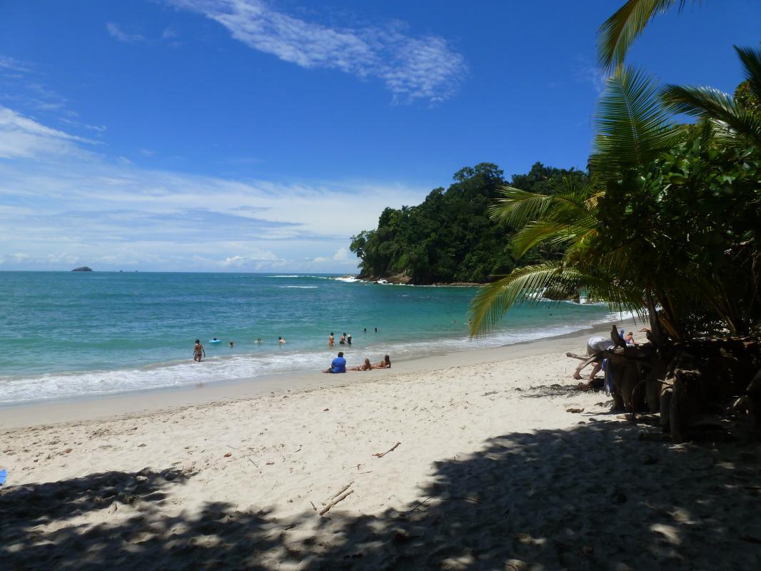 De stranden bij Parque Nacional Manuel Antonio