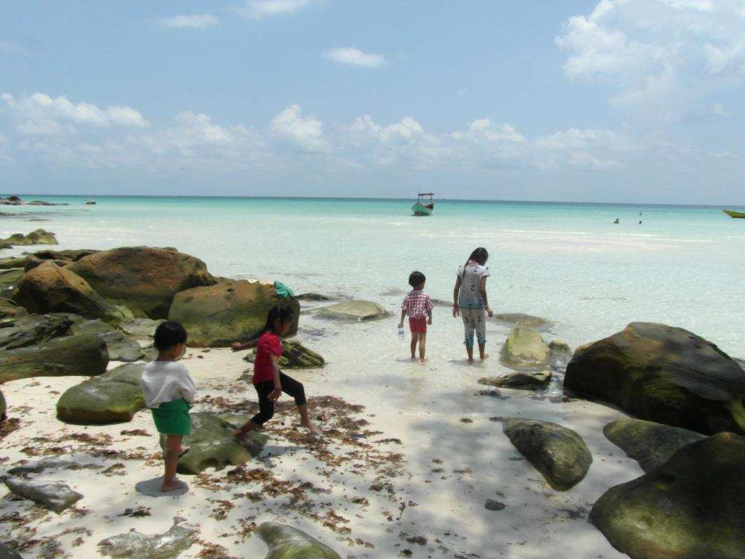 7 km lang wit strand, Longbeach Koh Rong