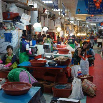 Vismarkt in Busan