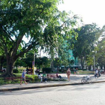 Het centrale plein van Santa Clara