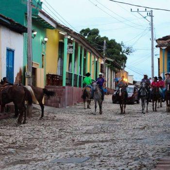 Straatleven in Trinidad