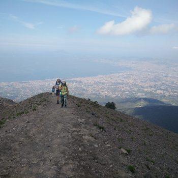 Indrukwekkend uitzicht op de Vesusius.