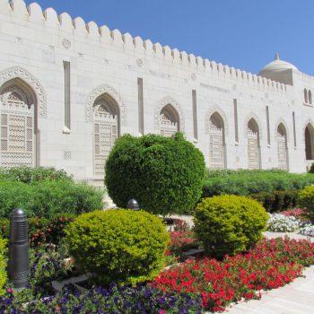 Sultan Qaboos moskee tuinen