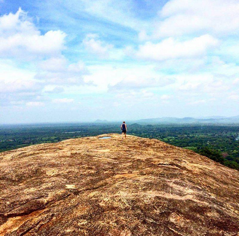 Uitgestrekte natuur vanop de Pidurangala Rock