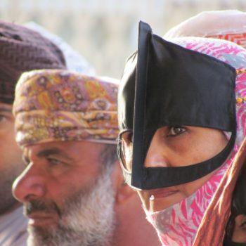 Bedoeinen vrouw met snavelmasker