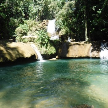 Bovenste waterval bij YS Falls