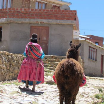 vrouw met lama